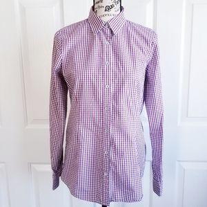 EUC Brooks Brothers Gingham Cotton Shirt Sz 6